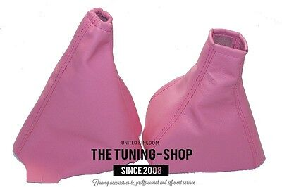 For Opel Vauxhall Corsa C 2000-2006 Gear Handbrake Gaiter Leather Baby Pink New