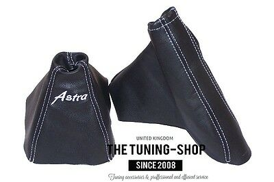 For Opel Vauxhall Astra H Mk5 Gear Handbrake Gaiter Leather Embroidery Astra