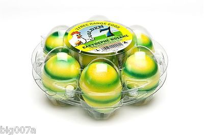 50 Clear Plastic Round Egg Carton.  Holds 7 eggs.  Starpack by Ovotherm.