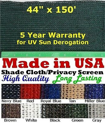 "USA 3' 8"" x 150' 90% SHADE CLOTH PRIVACY SCREEN POULTRY AVIARY SUN BLOCK Netting"