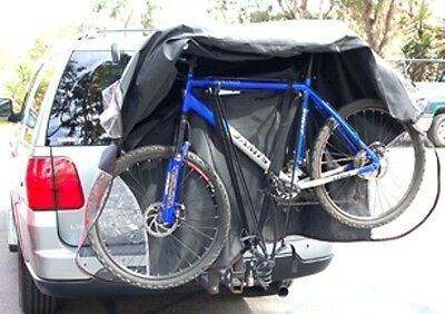 Dual Bike Car Rack Cover Fit Up 1-2 Bicycles. Design For Hitch Mount Bike Rack