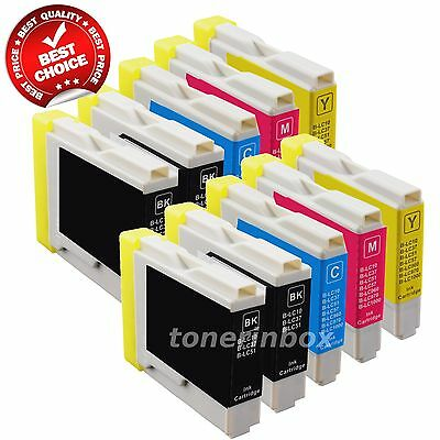 10 Pack New Ink Cartridge for Brother LC51 LC-51 MFC-465CN MFC-3360C MFC-5460CN