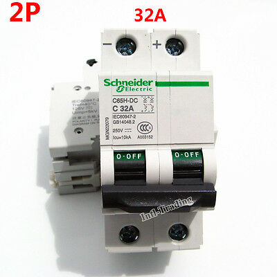 32A DC Breaker 250V Circuit Breaker 2P 2 Pole - Solar Isolator C65H-DC