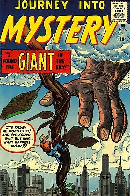 Journey Into Mystery 55 Comic Book Cover Art Giclee Reproduction on Canvas