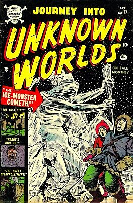 Journey Into Unknown Worlds 17 Comic Book Cover Art Giclee Repro on Canvas