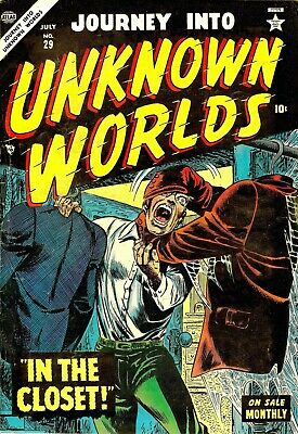 Journey Into Unknown Worlds 29 Comic Book Cover Art Giclee Repro on Canvas