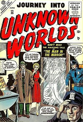 Journey Into Unknown Worlds 35 Comic Book Cover Art Giclee Repro on Canvas