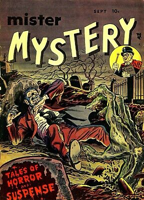 Mister Mystery 01 Comic Book Cover Art Giclee Reproduction on Canvas