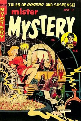 Mister Mystery 06 Comic Book Cover Art Giclee Reproduction on Canvas