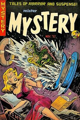 Mister Mystery 08 Comic Book Cover Art Giclee Reproduction on Canvas