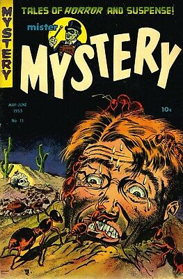 Mister Mystery 11 Comic Book Cover Art Giclee Reproduction on Canvas
