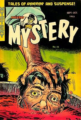 Mister Mystery 13 Comic Book Cover Art Giclee Reproduction on Canvas
