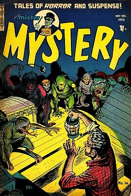 Mister Mystery 14 Comic Book Cover Art Giclee Reproduction on Canvas