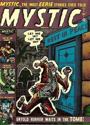 Mystc 07 Comic Book Cover Art Giclee Reproduction on Canvas