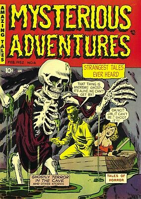 Mysterious Adventures 06 Comic Book Cover Art Giclee Reproduction on Canvas