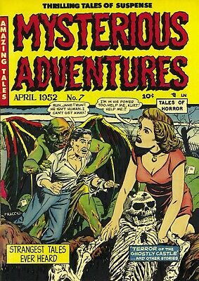 Mysterious Adventures 07 Comic Book Cover Art Giclee Reproduction on Canvas