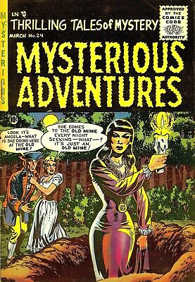 Mysterious Adventures 24 Comic Book Cover Art Giclee Reproduction on Canvas