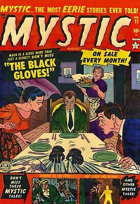 Mystic 11 Comic Book Cover Art Giclee Reproduction on Canvas