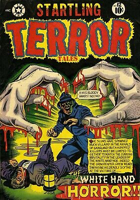 Startling Terror Tales 12 Comic Book Cover Art Giclee Reproduction on Canvas