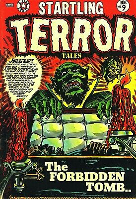 Startling Terror Tales V2 09 Comic Book Cover Art Giclee Reproduction on Canvas