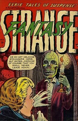 Strange Fantasy 08 Comic Book Cover Art Giclee Reproduction on Canvas