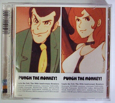 """Lupin the 3rd ; The 30th Anniversary Remixes """"PUNCH THE MONKEY !"""" Japanese Anime"""