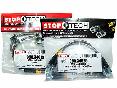 Stoptech Stainless Steel Braided Brake Lines (Front & Rear Set / 34013+34525)