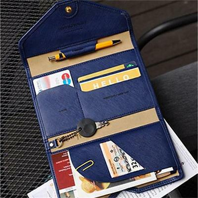 Passport Holder PU Leather Wallet Card Case Organizer Travel Ticket Protector Z