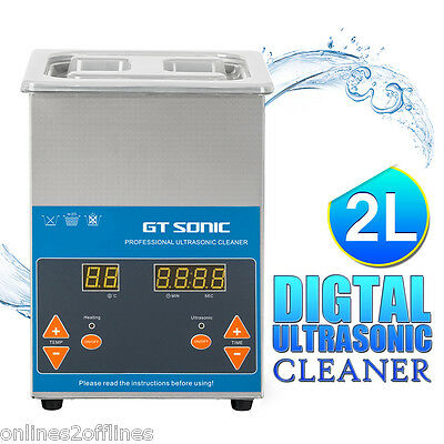 2L Digital Ultrasonic Cleaner Stainless Steel Industry Heated Heater w/Timer US