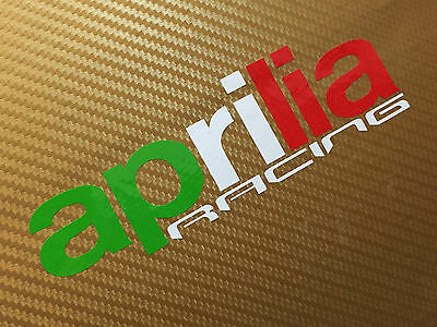 Aprilia Racing in Flag colours Track bike road fairing Decals Stickers PAIR#116
