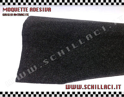 Fitted carpet acoustic adhesive ANTHRACITE for coatings car sheet 70x140 cm
