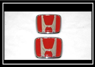 New Honda Civic Prelude Crx Accord Jdm Hood & Trunk Red Emblem Decal Badge