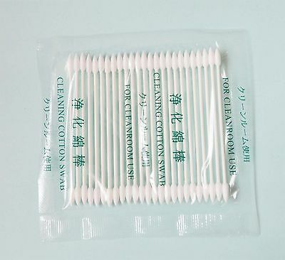 100 Double Point 15-005 Swab  Mini  Point Gun Tip  Cleaning Cotton Swab