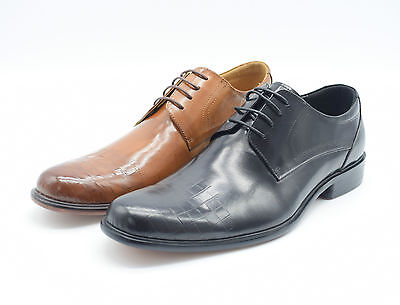 100% Geniune Leather Men Lace Up Office  Casual Smart Leather Suit Wedding Shoe