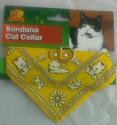 Bandana Cat Collar By Max & Tilly-Pets-Pussy Cats-New-Top Uk Quality-Neckerchief