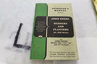 John Deere No. 200 Bedders & Planters Operators Manual Om-A33-853 For 60 70 A G