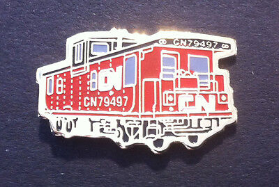CN Pointe St. Charles Red Caboose Hat/Lapel Pin