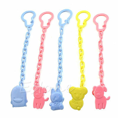2Pcs Cute Baby Infant Dummy Pacifier Soother Chain Clip Holder Toddler Toy Gift