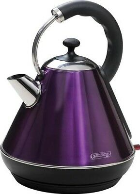 Quest 1.8L Low Wattage Purple Stainless Steel Kettle 1000W Caravan Motorhome