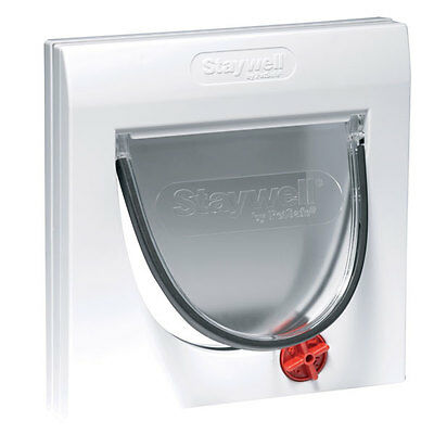 Staywell Manual 4 Way Locking Classic Cat Flap with Tunnel  - 917EF