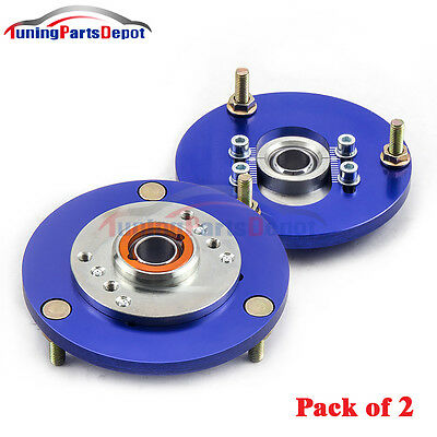 Front Coilover Camber Plate Top Mount For BMW 3 Series E36 1991-1998 Blue TPD