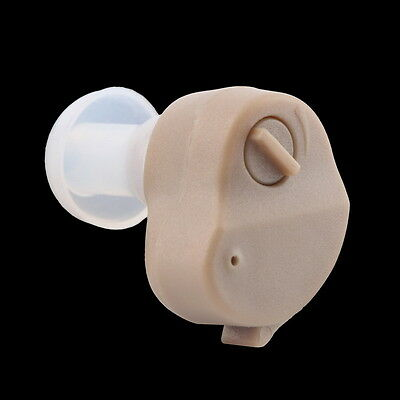 New Small In-Ear Voice Sound Amplifier Adjustable Tone Mini Hearing Ear Aid  OK
