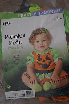 NEW Pumpkin Pixie Infant Halloween Costume 6-12 months Dress-Up