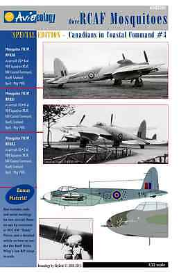 More RCAF Mosquitoes (404 Sqn) – CinCC3 – 1/32 scale Aviaeology Decals 'n Docs