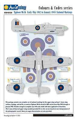 Typhoon National Markings (May 1942-Jan 1945) - 1/48 scale Aviaeology Decals