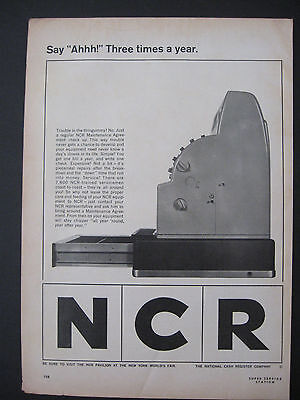 Vintage 1964 NCR The National Cash Register Company Print Ad Page Advertisement