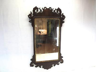 An Antique c1765 Chippendale Mahogany Wall Mirror Stuart & Turner London