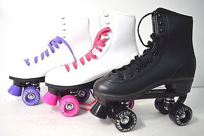 Top Brand Roller Skate Kids Youth Size 1  Black White Purple Pink