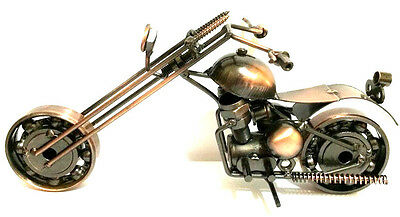 "Classic Hand craft  HD Motorcycle Metal Art Sculpture Decor Figurine 9""Long#m2-1"