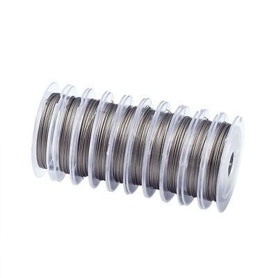 20 Stainless Steel Tiger Tail Wire Beading Jewelry 25-Gauge Nylon Coated 0.45mm